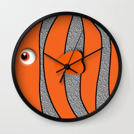 Orange ornamental fish cartoons Wall Clock