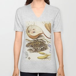 frog and pear Unisex V-Neck