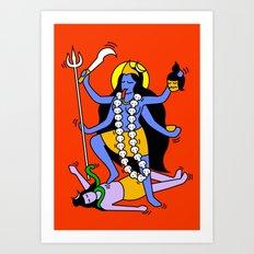 Kali Keith Haring style Art Print