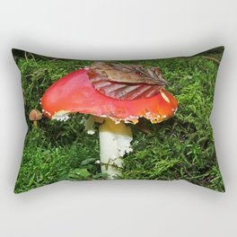 Fly agaric in the moss Rectangular Pillow