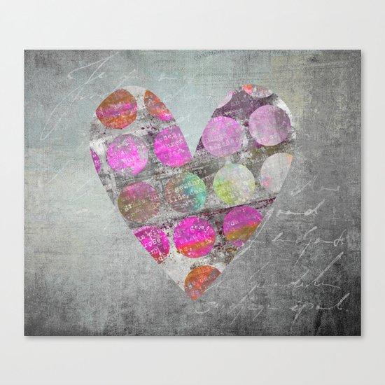 Passion  mixed media heart art Canvas Print