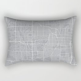 Omaha Map, Nebraska USA - Pewter Rectangular Pillow