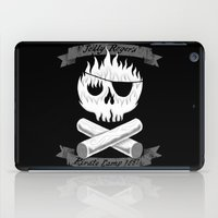 camp iPad Cases featuring Pirate Camp by WanderingBert / David Creighton-Pester