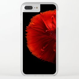 red fish Clear iPhone Case