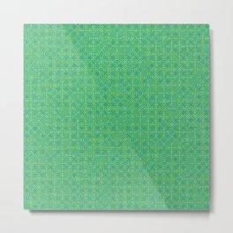 Random Octagonal Pattern Green Metal Print
