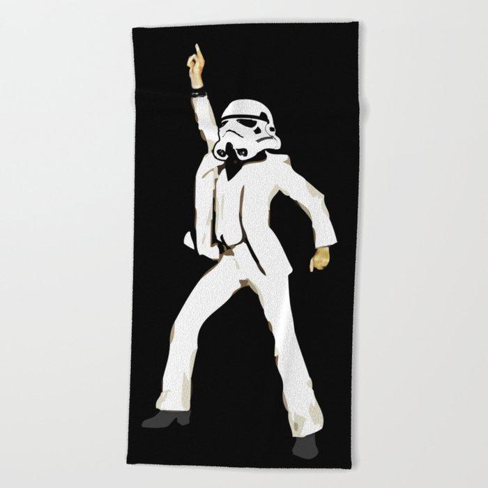saturday night trooper _ star wars Beach Towel