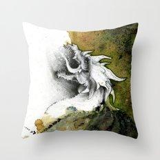 Dust Dragon  Throw Pillow
