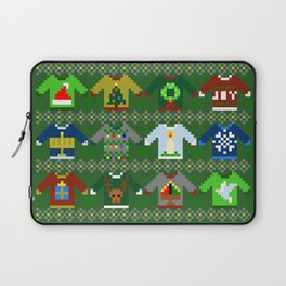 The Ugly 'Ugly Christmas Sweaters' Sweater Design Laptop Sleeve