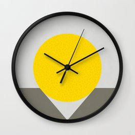 No Way Back / Yellow & Grey Wall Clock