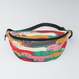 dachshund pattern- happy dogs Fanny Pack