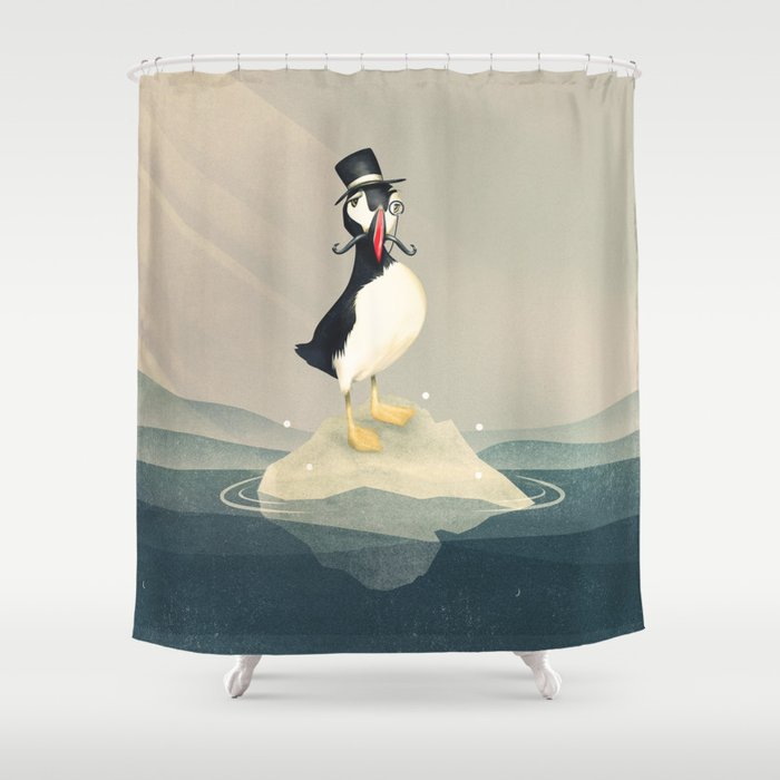 Lord Puffin Shower Curtain