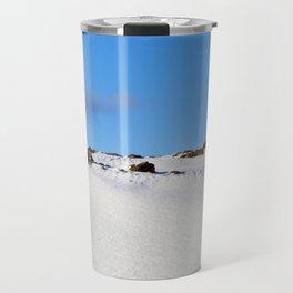 plowed brown soil Travel Mug