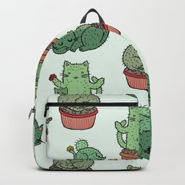 Cacti Cat pattern Backpack