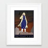 fullmetal Framed Art Prints featuring Fullmetal Alchemist - The Hawk's Eye by Monica McClain