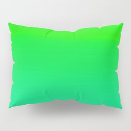 Lime Green and Sea Foam Green Ombre Pillow Sham