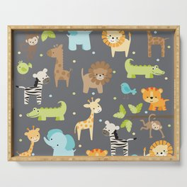Jungle Animals Serving Tray