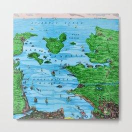 Ariel view of Narragansett Bay, Rhode Island by Jeanpaul Ferro Metal Print