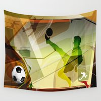 soccer Wall Tapestries featuring Soccer by Robin Curtiss
