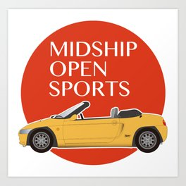 Midship Open Sports -Yellow- Art Print