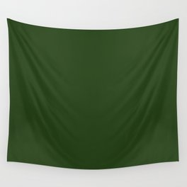 Solid Dark Forest Green Simple Solid Color All Over Print Wall Tapestry