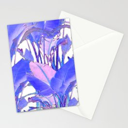 LILAC-PINK TROPICAL JUNGLE FOLIAGE PATTERNS Stationery Cards