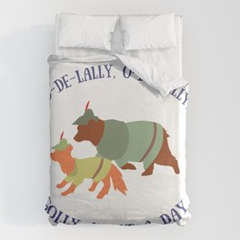 Robin Hood and Little John Duvet Cover