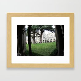 Salisbury Cathedral Cloisters Framed Art Print