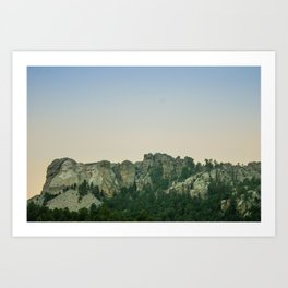Mount Rushmore Sunset Art Print