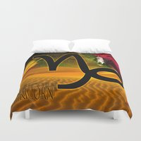 capricorn Duvet Covers featuring Capricorn by LBH Dezines