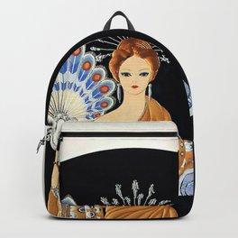 "Art Deco Illustration ""Athena"" Backpack"