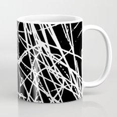 Daisy Scribble Black Mug