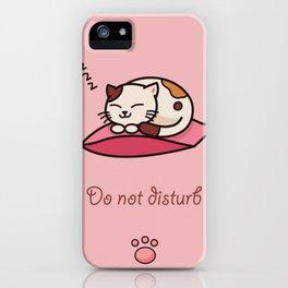 Do not disturb - cute cat sleeping iPhone Case