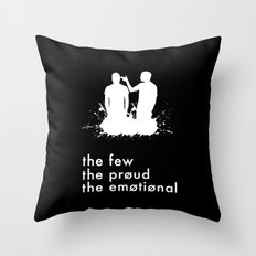 the few, the proud, the emotional // Twenty One Pilots Throw Pillow