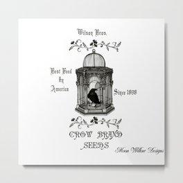 Vintage Birdcage Metal Print