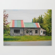 Rainbow Roof Canvas Print