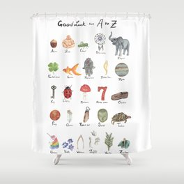 Good Luck from A - Z Shower Curtain