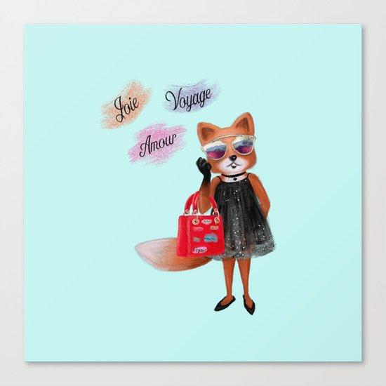 Fashion Fox Canvas Print