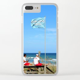 Overseers At The Beach Clear iPhone Case