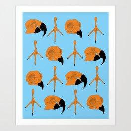 Birdskull Pattern Original Art Print