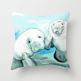 Manatees Throw Pillow