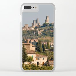 Hill Town Of San Gimignano Clear iPhone Case