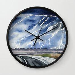Thunderstorm en route Wall Clock