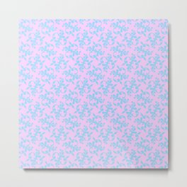 Pattern #10, blue on pink Metal Print