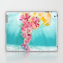 Jellyfish with Flowers Laptop & iPad Skin