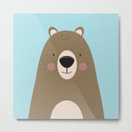Bears Are Friendly Metal Print