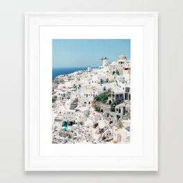 Oia, Santorini, Greece Framed Art Print