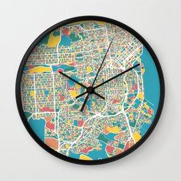 San Francisco Map Art Wall Clock