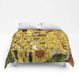 The Lemon Kiss Vegetable Decoupage Vegan Art Comforters