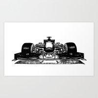 formula 1 Art Prints featuring Formula 1 car by Cosy Walnut