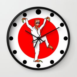 Sloth Karate Wall Clock
